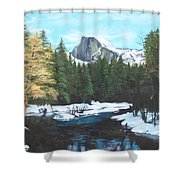 Half Dome Snow Shower Curtain