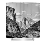 Half Dome Tunnel View  Shower Curtain