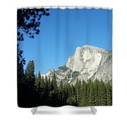 Half Dome Village Shower Curtain