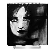 Half In The Shadows Shower Curtain