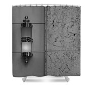 Half Lit Wall Sconce Shower Curtain