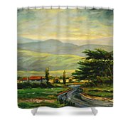 Half Moon Bay Shower Curtain