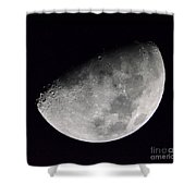Half Moon Number 5 Shower Curtain