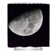 Half Moon Number Three Shower Curtain