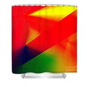 Halftone Colorful Abstract Shower Curtain