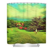 Halfway Down The Hill Shower Curtain