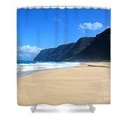 Hali Pale Beach  Kauai  Hawaii Shower Curtain
