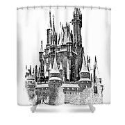 Hall Of The Snow King Monochrome Shower Curtain