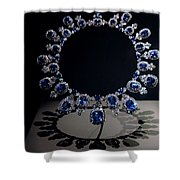 Hall Sapphire And Diamond Necklace Shower Curtain