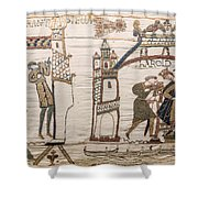 Halleys Comet Of 1066, Bayeux Tapestry Shower Curtain