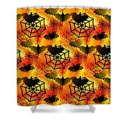 Halloween Abstract - Happy Halloween Shower Curtain
