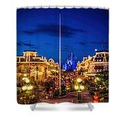 Halloween At Magic Kingdom Shower Curtain