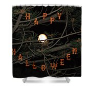Halloween Card Shower Curtain