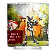 Halloween Drives Me Crazy Shower Curtain