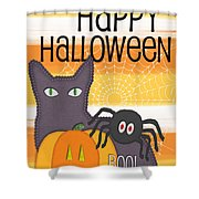 Halloween Friends- Art By Linda Woods Shower Curtain by Linda Woods