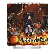 Halloween Girl Shower Curtain