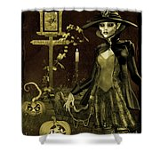 Halloween Graveyard-c Shower Curtain
