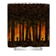 Halloween Horror Zombie Rampage Shower Curtain