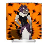 Halloween Hussy Shower Curtain
