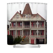 Halloween In Cape May Shower Curtain