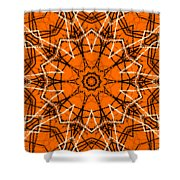 Halloween Kaleidoscope 12 Shower Curtain