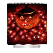 Halloween Lights Shower Curtain