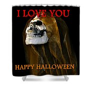 Halloween Love Shower Curtain