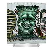 Halloween Monsters Shower Curtain