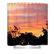 #halloween #morning #sky Is On #fire Shower Curtain