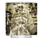 Halloween Mrs Bones The Bride Vertical Shower Curtain