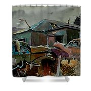 Halloween On The Hill Shower Curtain