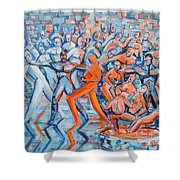 Halloween Party Shower Curtain