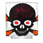 Halloween Skull Shower Curtain
