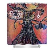 Halloween Tree Shower Curtain
