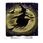 Halloween Witch Shower Curtain