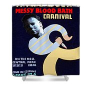Halloween Wpa Parody Poster Shower Curtain by Paul Van Scott