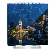 Hallstat Village Shower Curtain