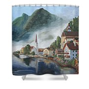 Hallstatt Austria Shower Curtain