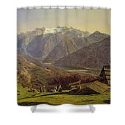 Hallstatter See Shower Curtain by Ferdinand Georg Waldmuller