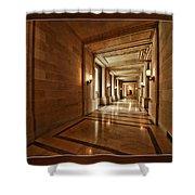 Hallway In City Hall Sf Shower Curtain