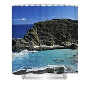 Halona Blow Hole Shower Curtain