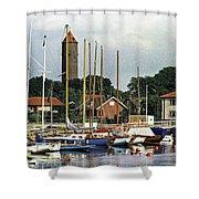 Halsingborg Marina 2 Shower Curtain