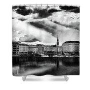Hamburg At Sunset Shower Curtain