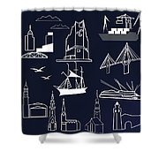 Hamburg In Miniature Shower Curtain