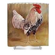 Hamburg Rooster Shower Curtain