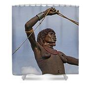 Hamer Tribe Woman, Ethiopia  Shower Curtain