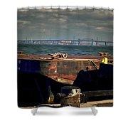 Hamilton Harbor- Pier 8 Shower Curtain