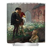Hamlet And The Gravediggers Shower Curtain