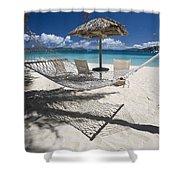 Hammock On The Beach Shower Curtain