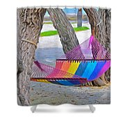 Hammock Time In The Florida Keys Shower Curtain